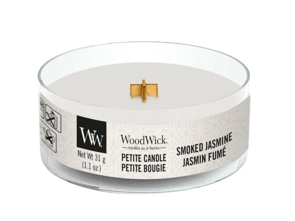 woodwick smoked jasmine petite candle