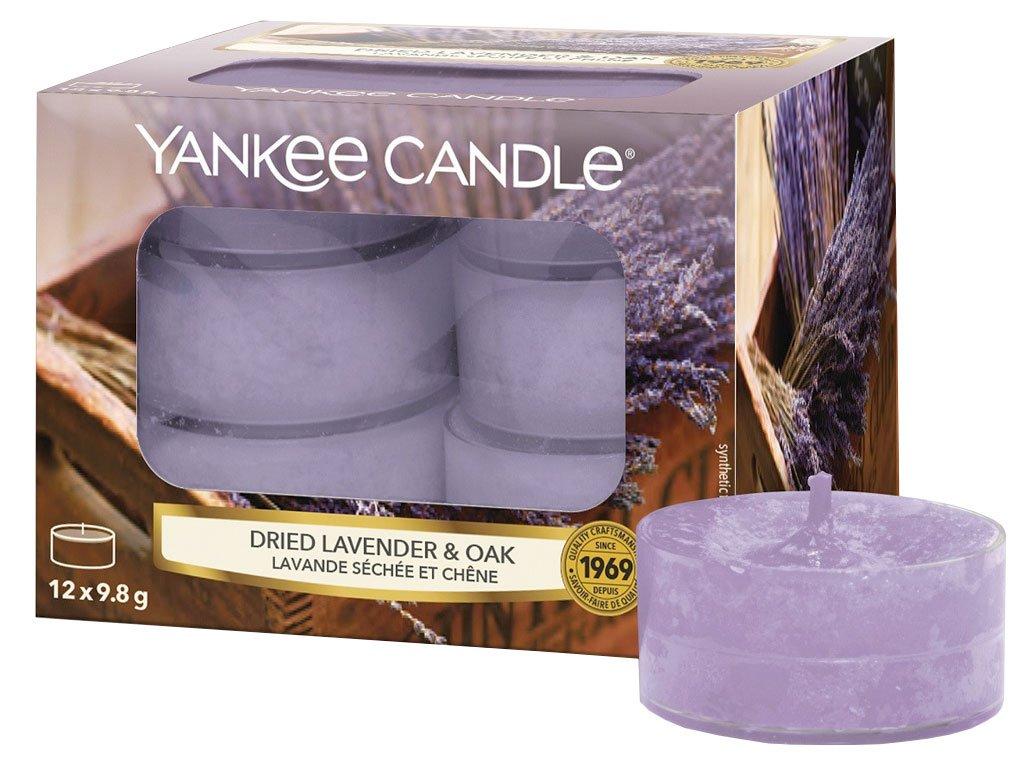 yankee candle dried lavender oak cajove svicky