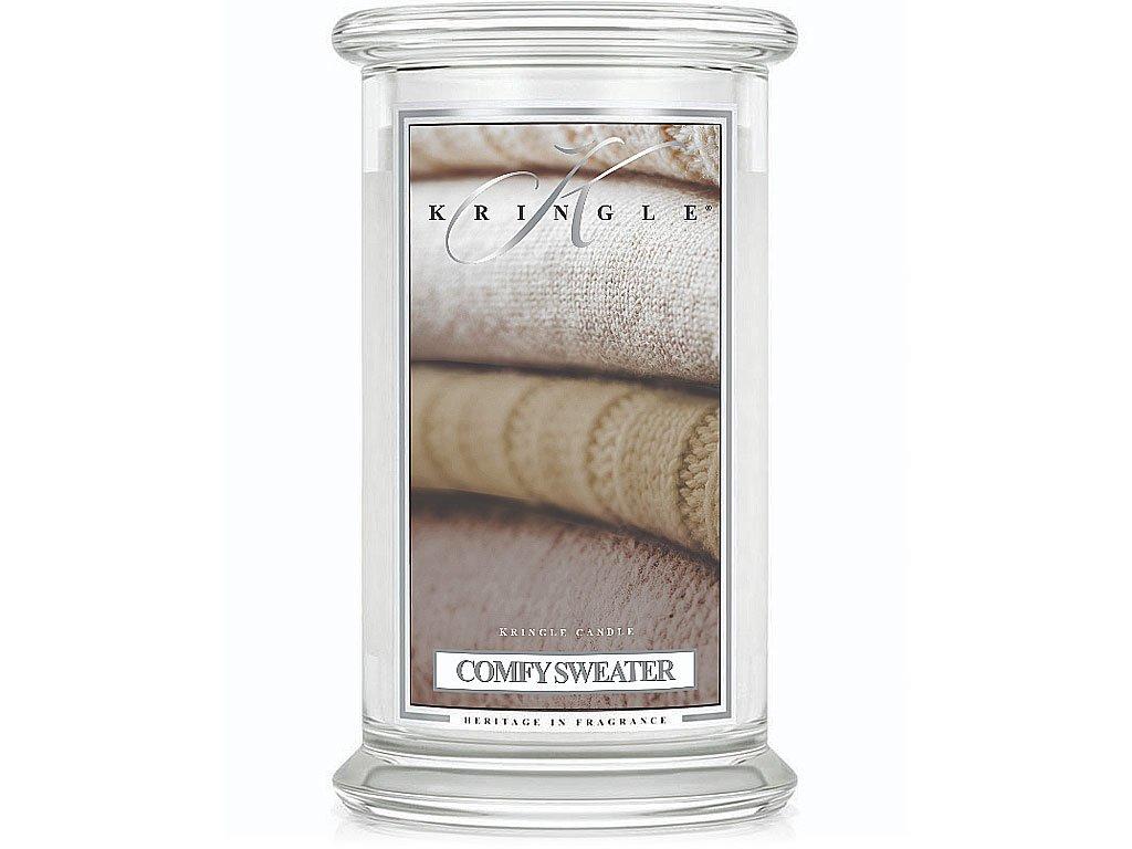 kringle candle svicka comfy sweater velka