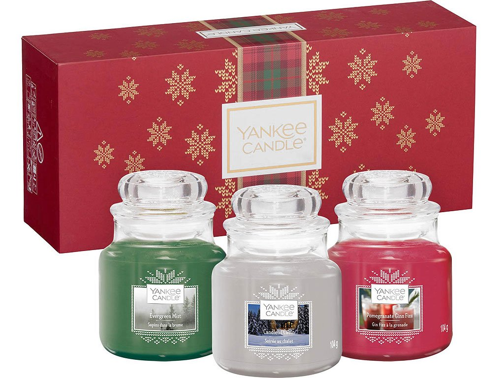 yankee candle vanocni darkova sada svicky alpine christmas detail