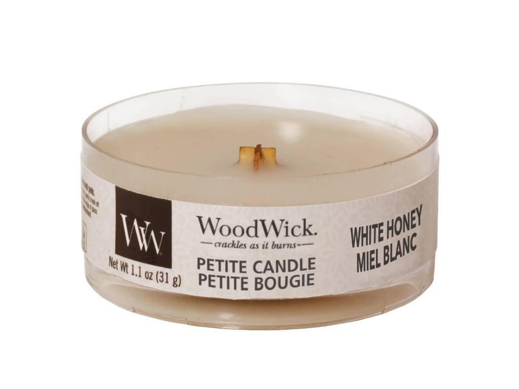 woodwick svicka white honey petite candle
