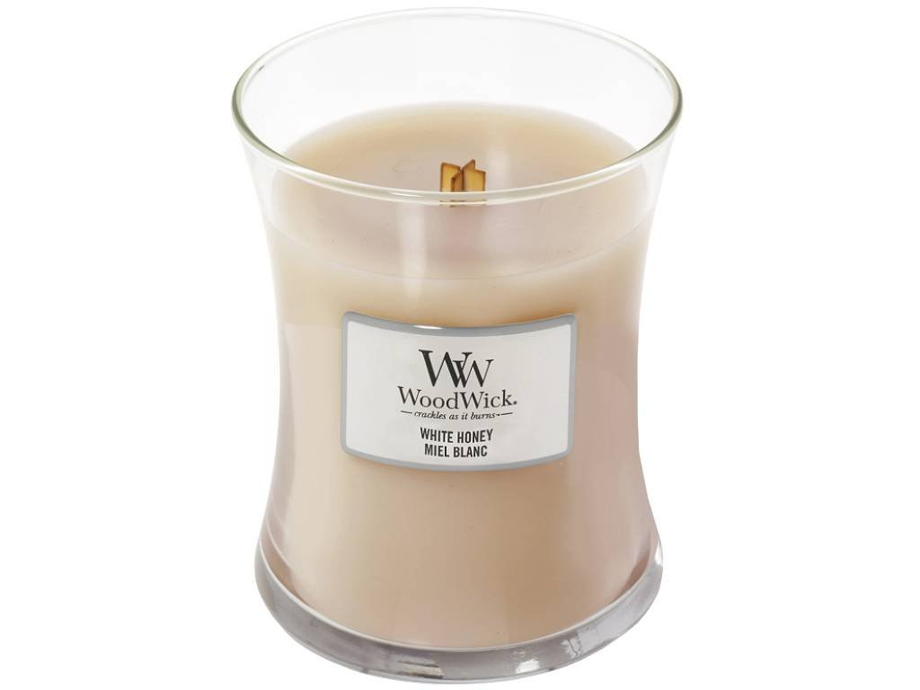 woodwick white honey stredni