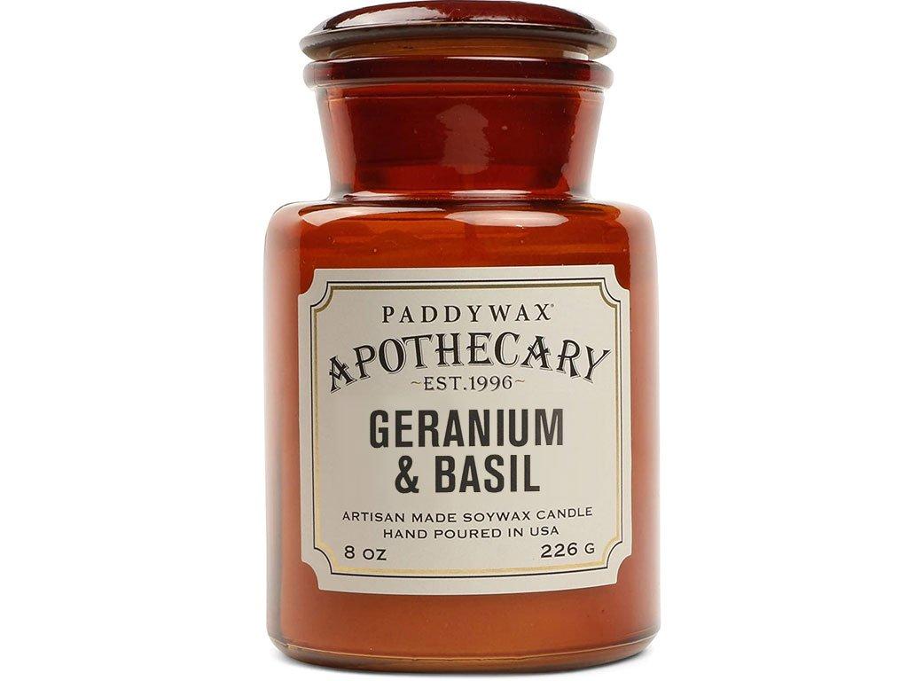 paddywax apothecary svicka geranium basil