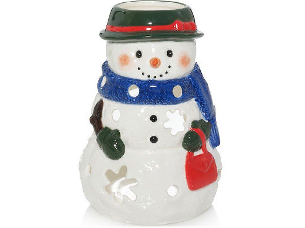yankee candle svicen na cajovou svicku snehulak stredni