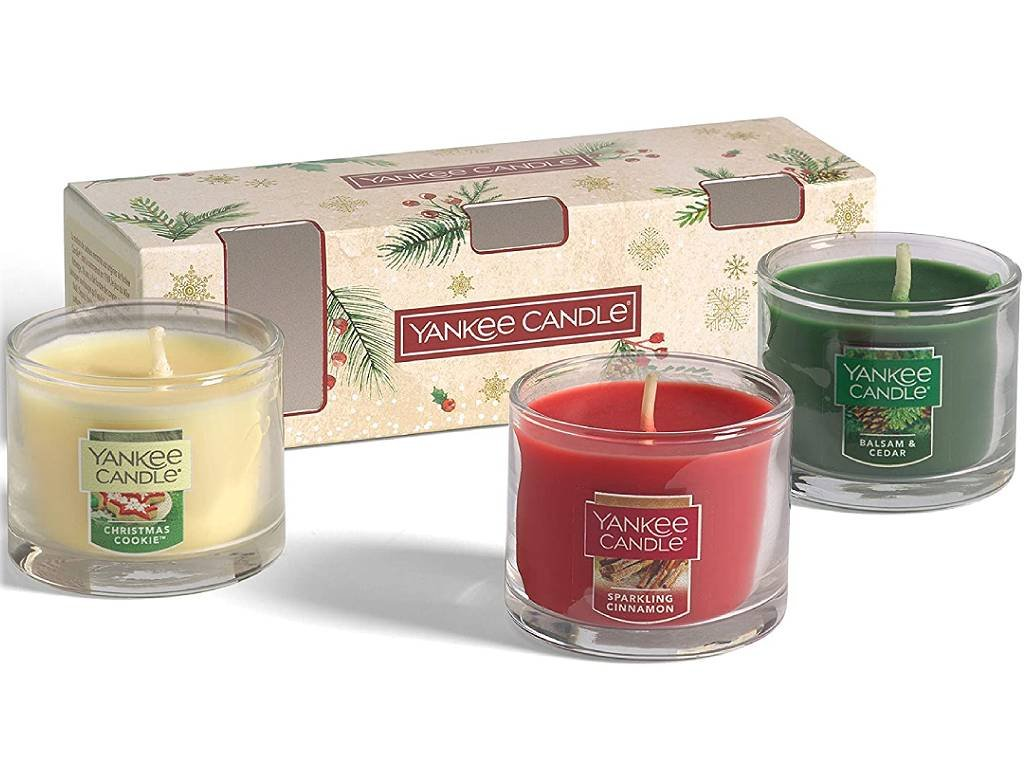 yankee candle christmas set 3 mini sklo3