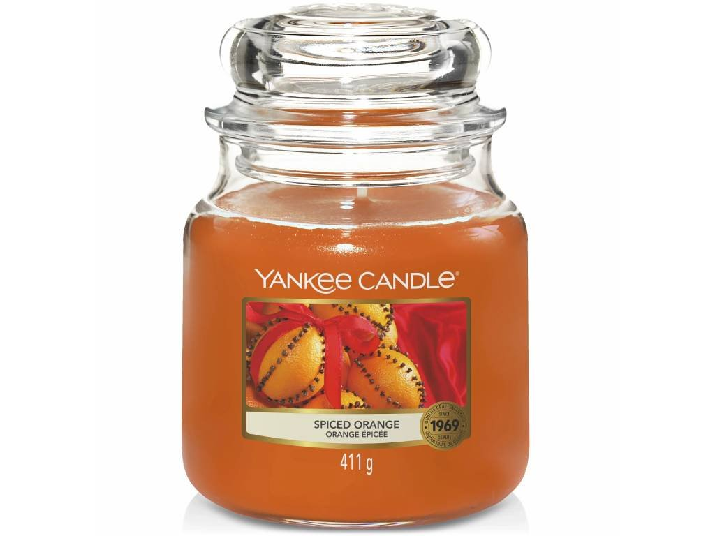 yankee candle spiced orange stredni