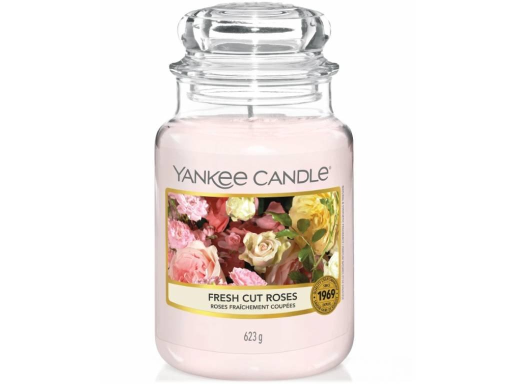 yankee candle fresh cut roses velka