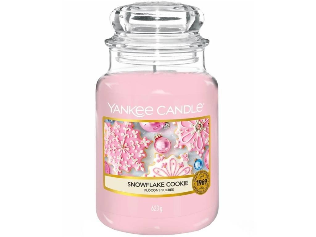 yankee candle snowflakes cookie velka
