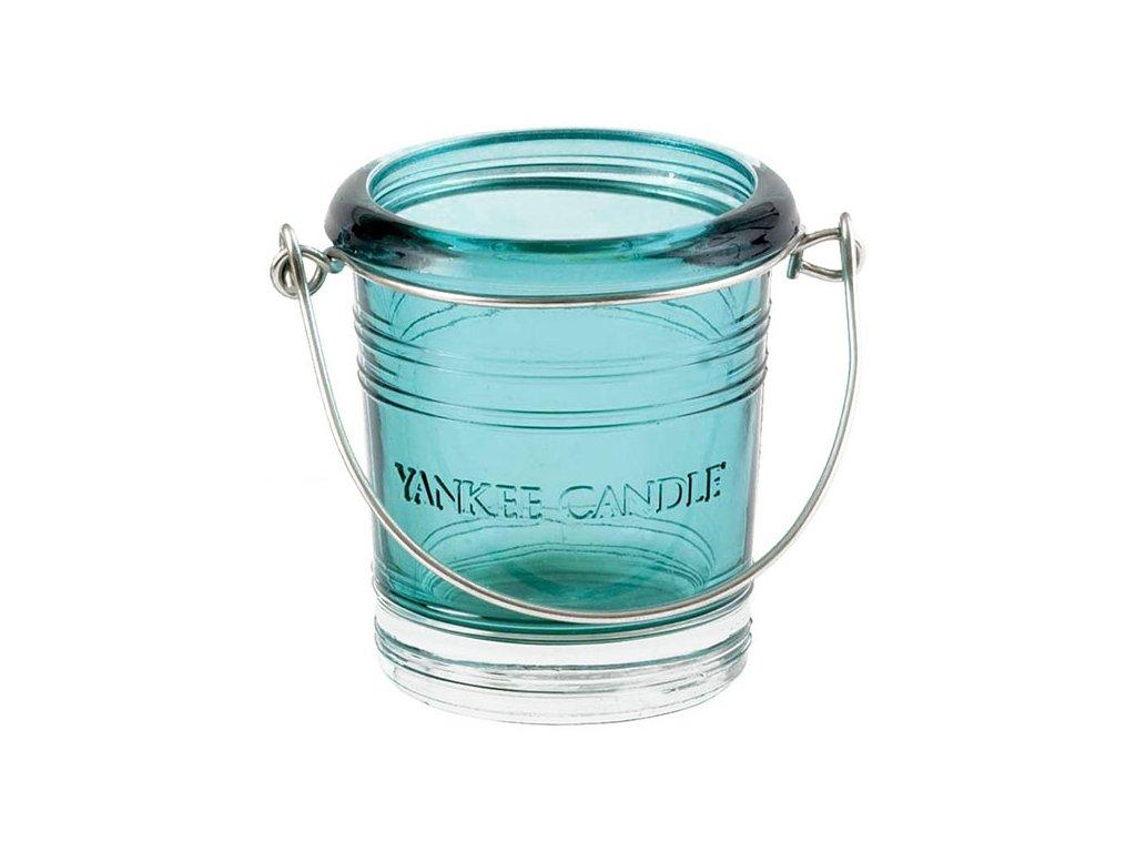 7112 yankee candle glass bucket svicen na votivni svicku tyrkysovy