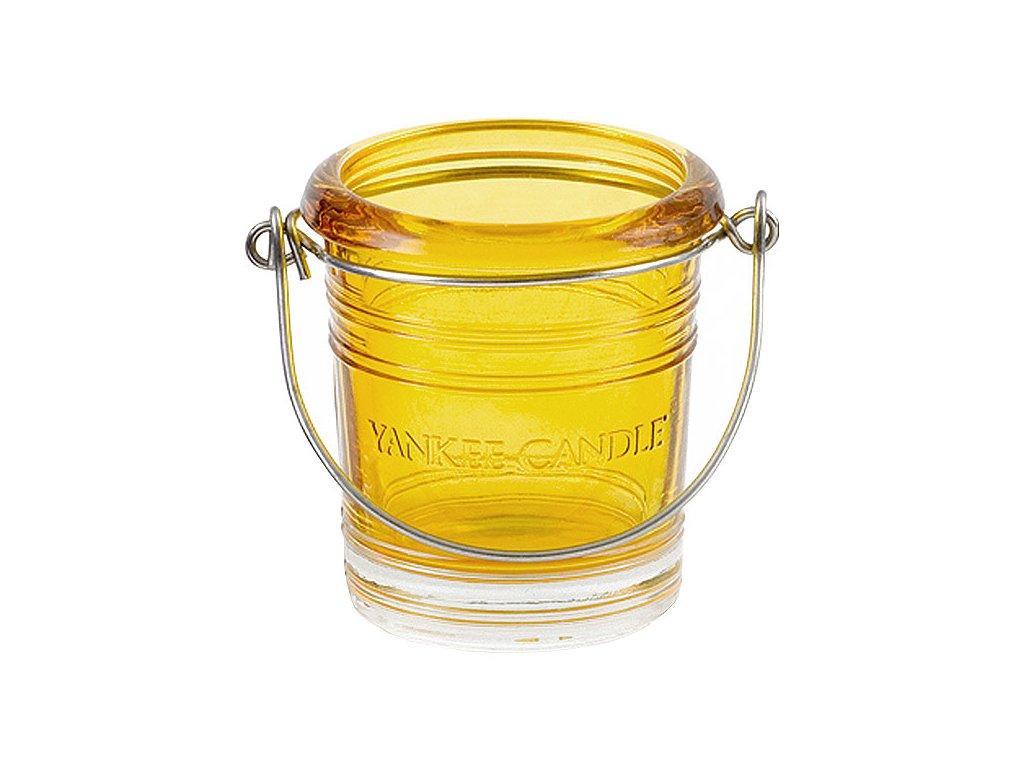 7118 yankee candle glass bucket svicen na votivni svicku zluty