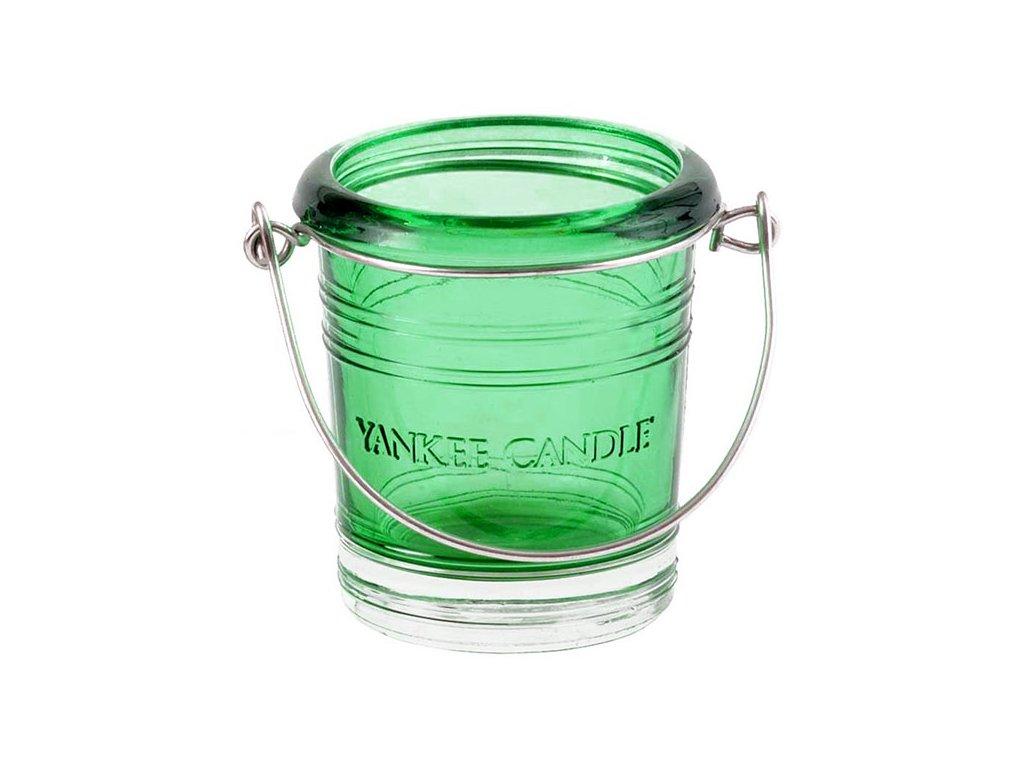 7121 yankee candle glass bucket svicen na votivni svicku zeleny