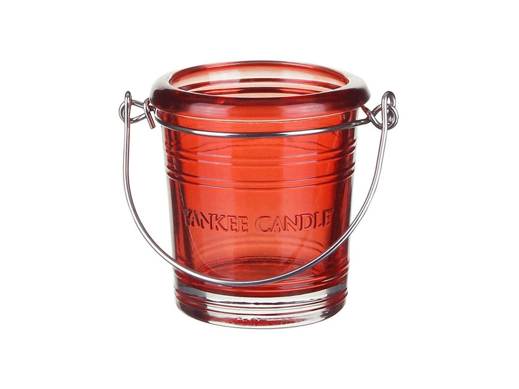 7124 yankee candle glass bucket svicen na votivni svicku cerveny