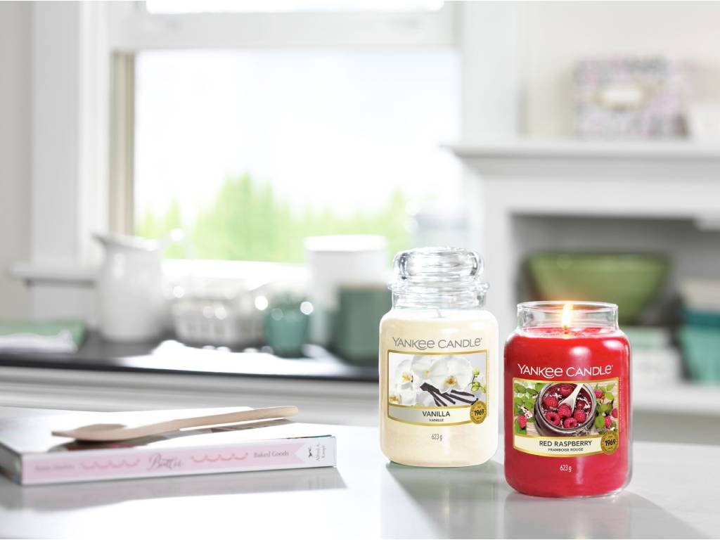 yankee candle red raspberry velka