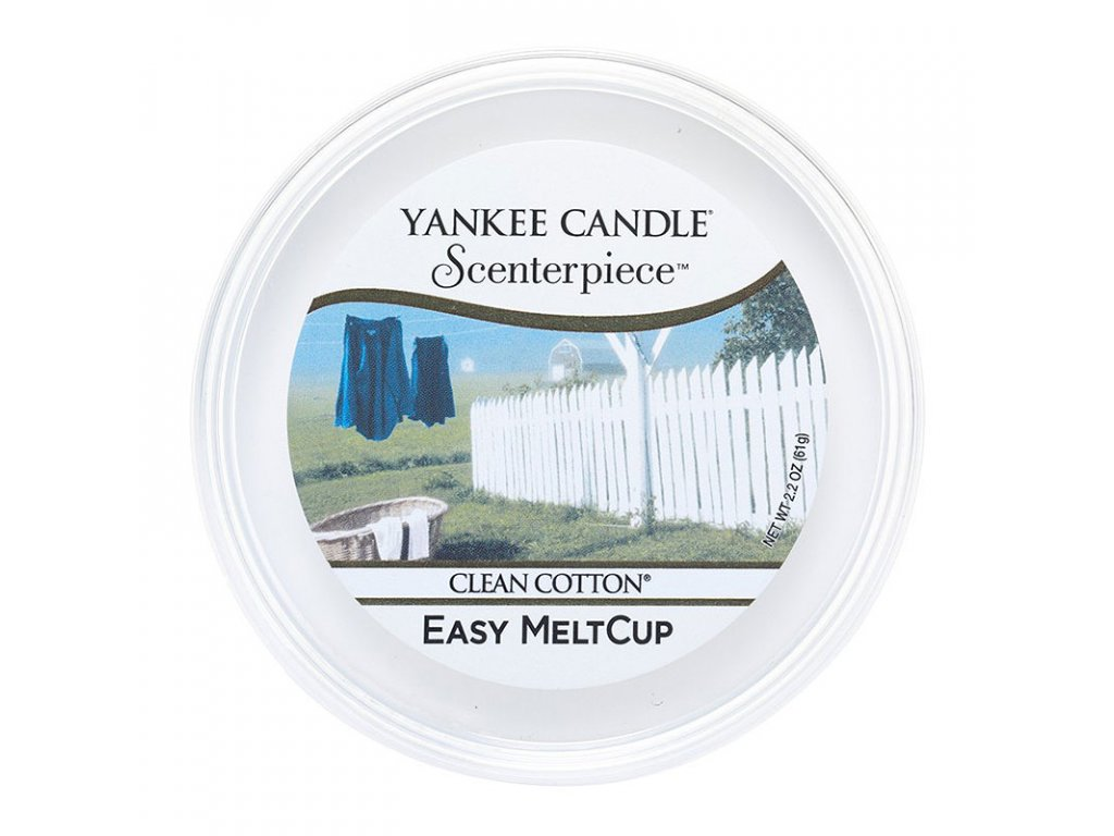 7652 yankee candle vosk clean cotton easy meltcup