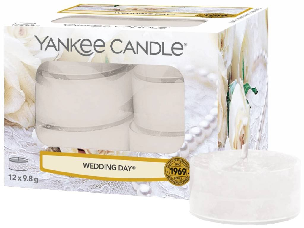 7754 yankee candle cajove svicky wedding day 12 ks