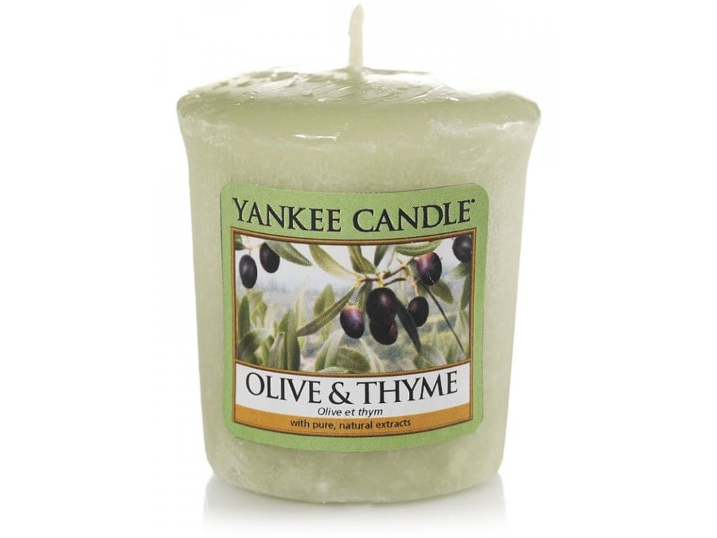 8024 yankee candle votivni svicka olive thyme