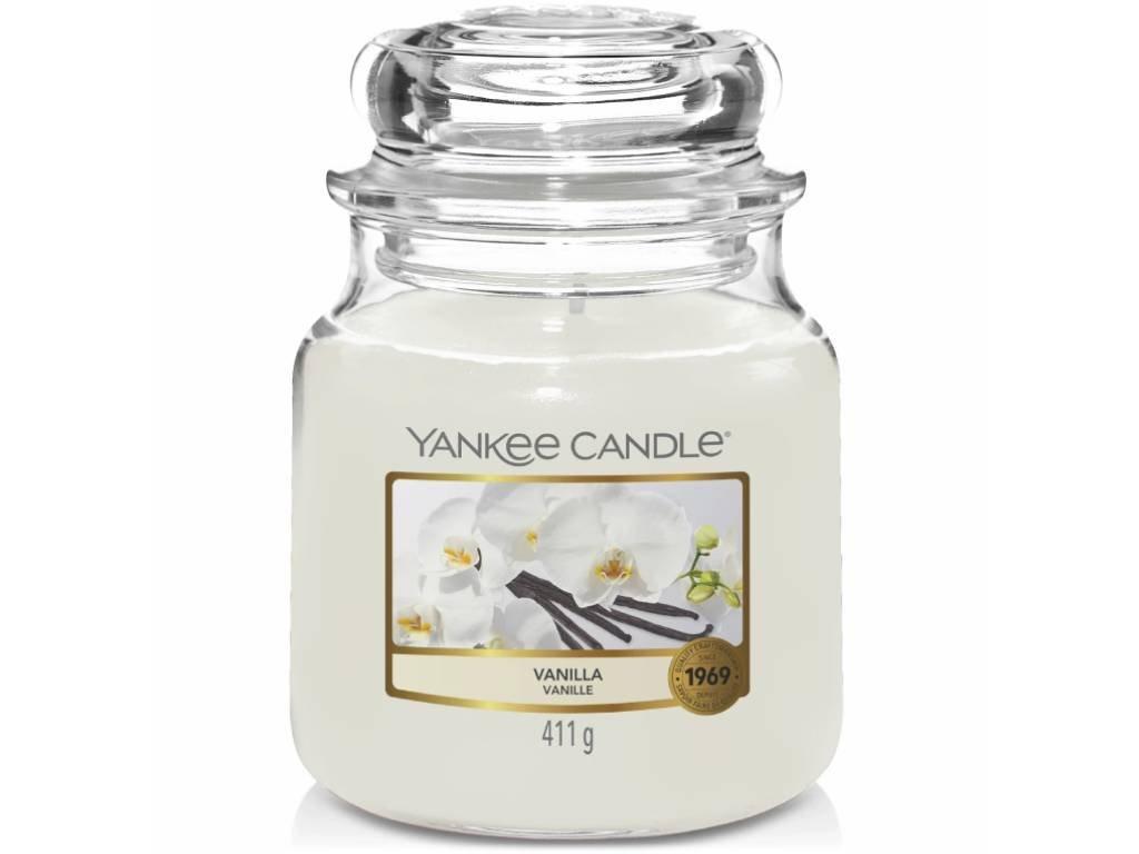 yankee candle vanilla stredni