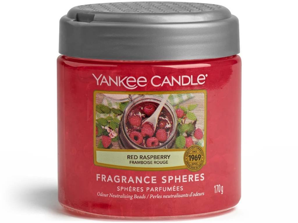 8387 yankee candle spheres vonne perly red raspberry