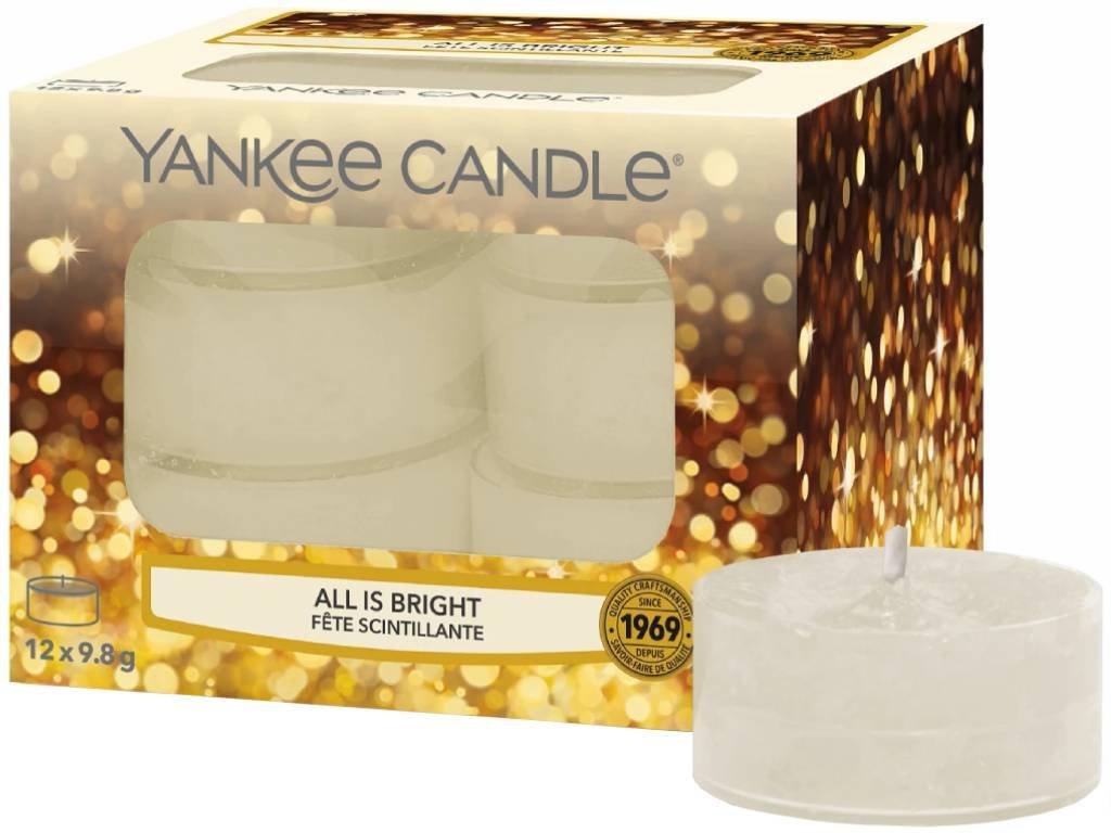 8699 yankee candle cajove svicky all is bright 12 ks
