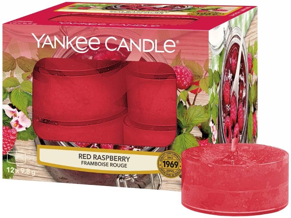 9443 yankee candle cajove svicky red raspberry 12 ks
