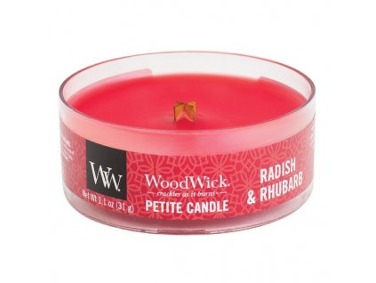 10640 woodwick petite candle vonna svicka redkev a rebarbora