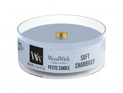 woodwick soft chambray petite