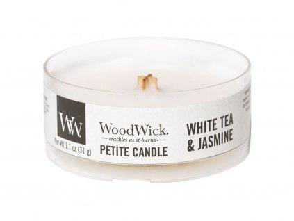 woodwick petite candle svicka white tea jasmine vicko