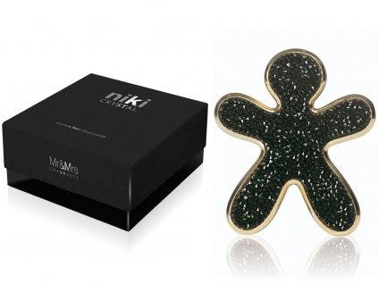 10946 mr mrs fragrance niki crystal panacek do auta black se zlatymi okraji