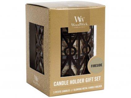 11597 woodwick sada 3 ks svicek petite candle s vuni ohen v krbu a svicnu geometric