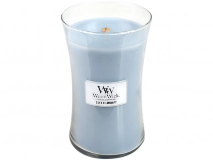 woodwick soft chambray velka
