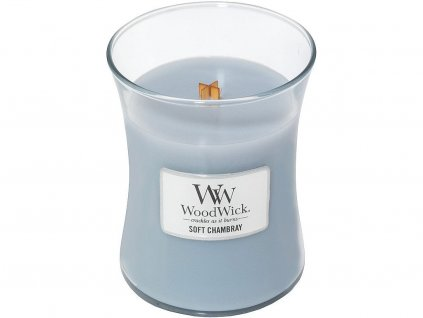 woodwick soft chambray stredni