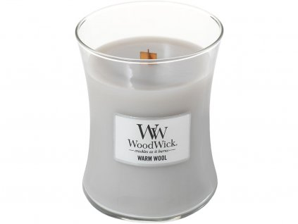 woodwick warm wool svicka stredni