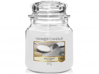 yankee candle baby powder stredni
