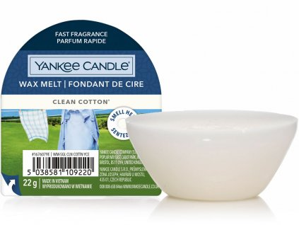 yankee candle vosk do aromalampy clean cotton