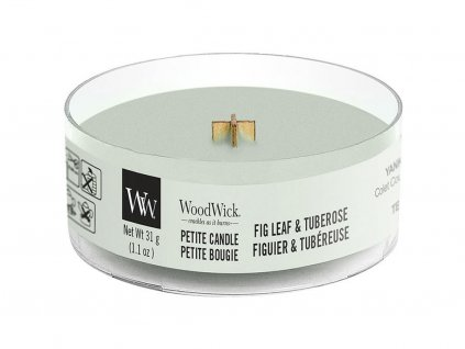 woodwick fig leaf tuberose petite candle