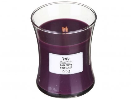 woodwick dark poppy stredni 1