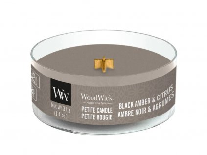 woodwick black amber citrus petite candle