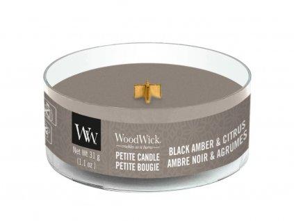 woodwick petite black amber citrus