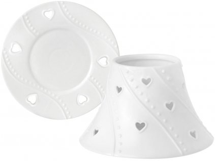 yankee candle stinitko talir white hearts 1