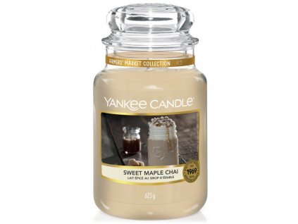 yankee candle sweet maple chai velka
