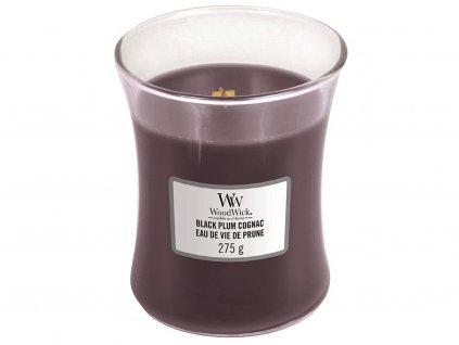 woodwick black plum cognac stredni