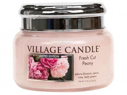 village candle svicka fresh cut peony mala