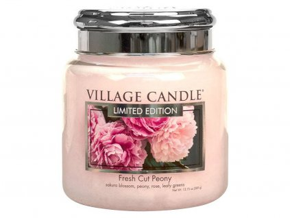 village candle svicka fresh cut peony stredni