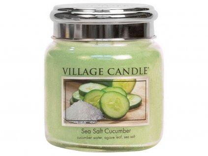 village candle svicka sea salt cucumber stredni