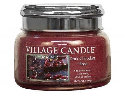 village candle svicka dark chocolate rose mala