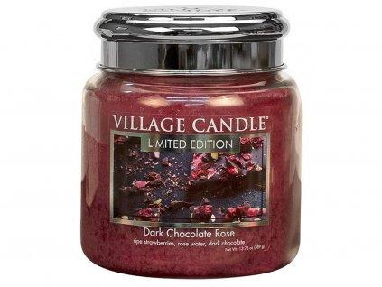 village candle svicka dark chocolate rose stredni