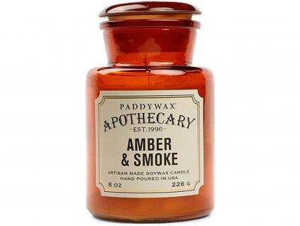paddywax svicka apothecary amber smoke