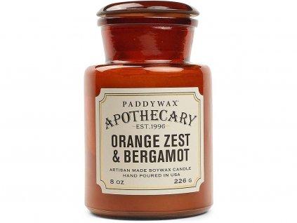 paddywax svicka apothecary orange zest bergamot