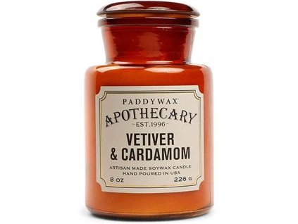 paddywax svicka apothecary vetiver cardamom