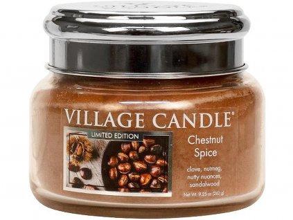 village candle svicka chestnut spice